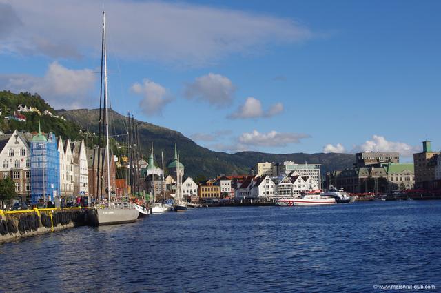 Корабли и яхты в Бергене