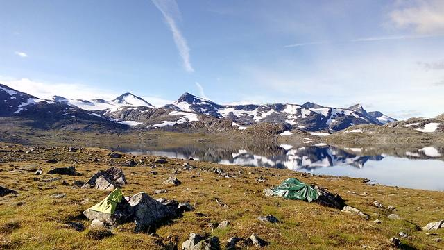 Табір в горах Норвегії