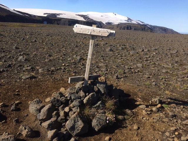 Указатель в Исландии