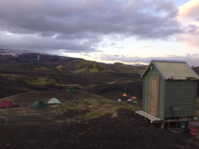 Палаточный лагерь в Исландии