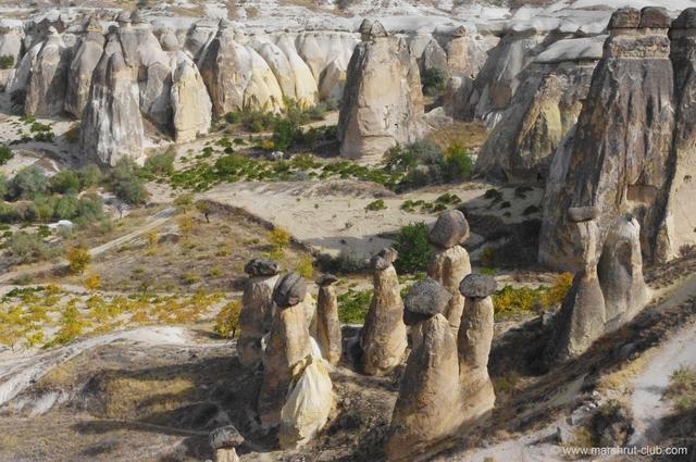 каменные грибы в Каппадокии