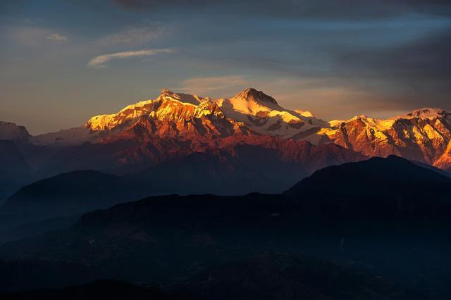 Гималаи на закате