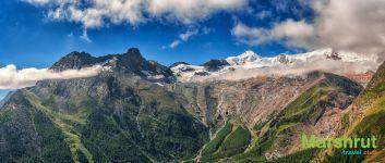 Белые шапки гор