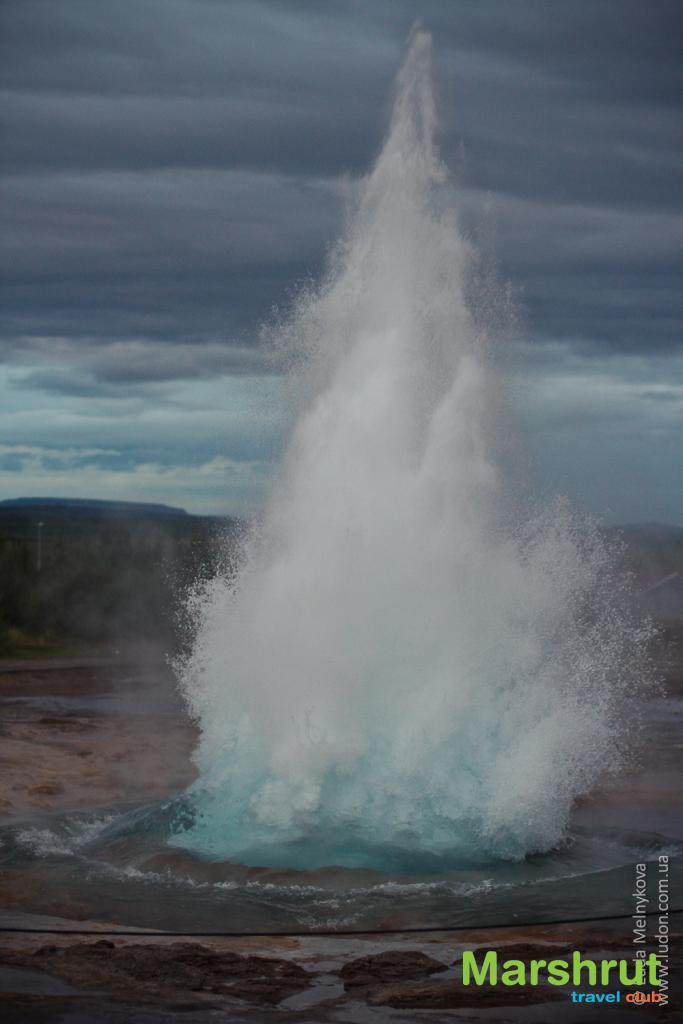 Извержение гейзера