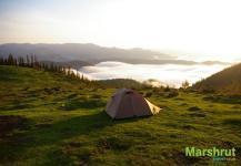 Палатка над облаками