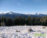 Первый снег на Черногорском хребте
