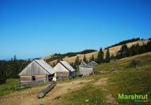 Домики пастухов в Карпатах
