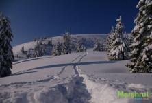 Зимний маршрут в горах