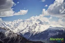 Снег в горах Сванетии