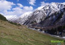 Весна и зима в горах