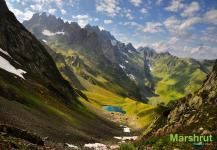 Озеро на склоне Эгрисских гор
