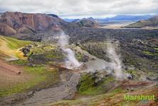 Застывшая лава в Исландии