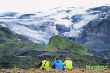 Ледник на вулкане в Исландии
