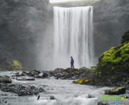 Водопад в каньоне