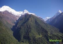 Вершины горного массива Аннапурны