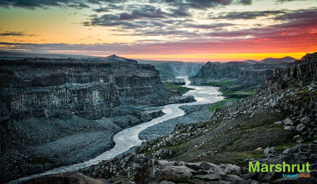 Закат в Исландии