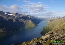 Утро в горах Норвегии