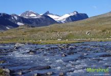Заснеженные горы Норвегии