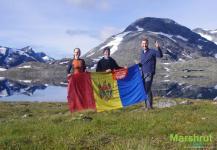 Флаг Молдовы в Норвегии