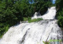 Самый большой равнинный водопад Украины