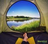 Вид из палатки на Днестр